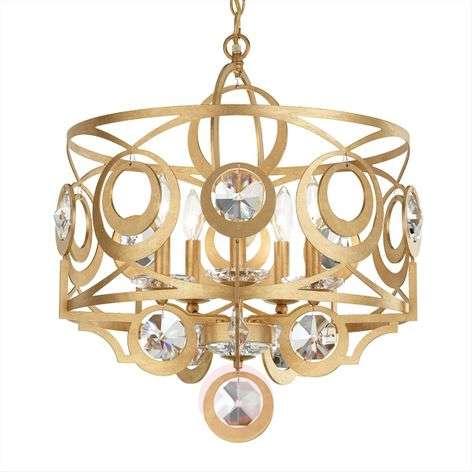 Schonbek Gwynn -kristalliriippuvalo, 53 cm, kulta