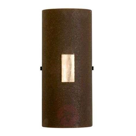 Seinävalaisin SOLO, ruosteenvärinen, lehtikulta