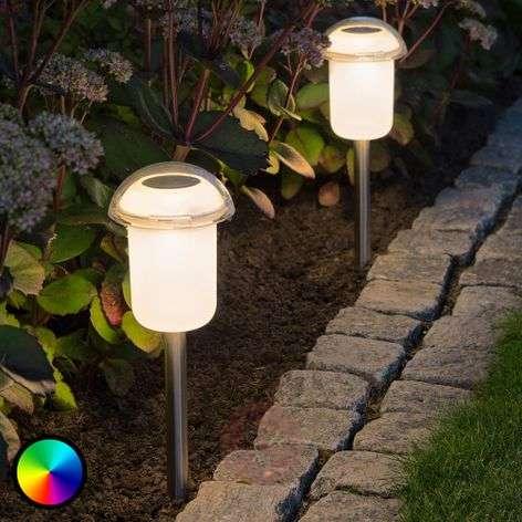 Siirreltävä aurinkok. LED-valaisin Assisi värin v.