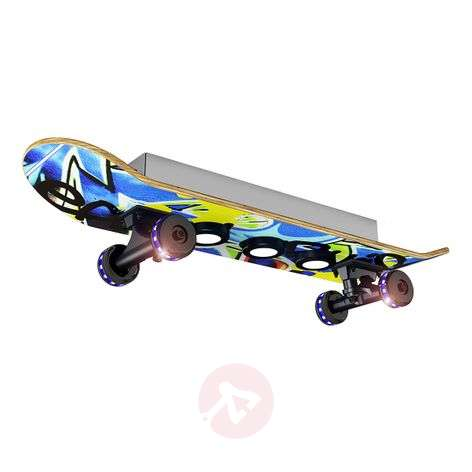 Skateboard-LED-kattovalaisin Easy Cruiser, graffi