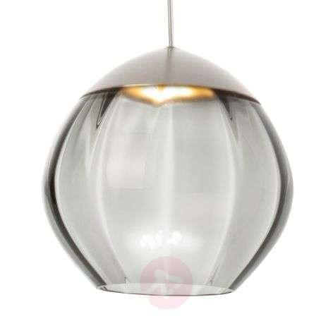 Soft-LED-riippuvalaisin lasivarjostimella, musta