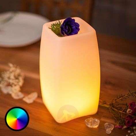 Sovellusohjattava LED-pöytävalaisin Stele, akku