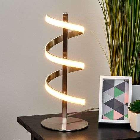 Spiraalinmuotoinen LED-pöytälamppu Pierre