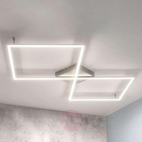 Suoralinjainen LED-kattolamppu Romee, kaukosäädin