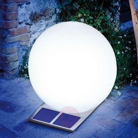 Super Trendy -pallovalaisin aurinkokennolla valk.