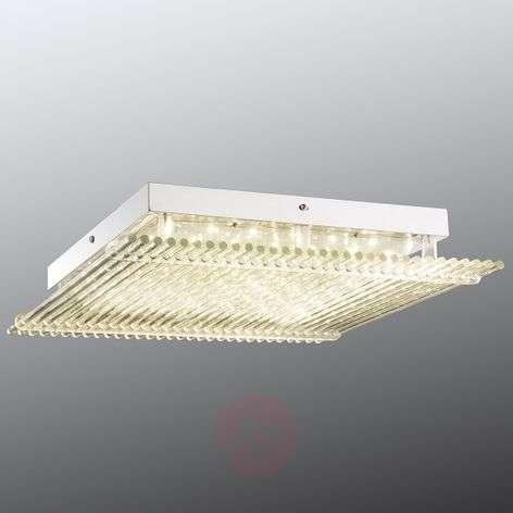 Suuri LED-kattovalaisin Hatu lasikoristeluin 43 cm