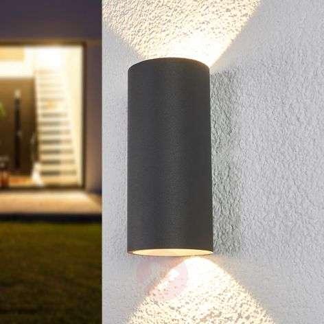 Sylinterimäinen LED-seinävalo Helma ulkokäyttöön
