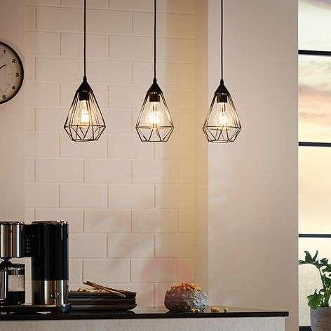 Tarbes – 3-lampp. vintage-riippuvalaisin