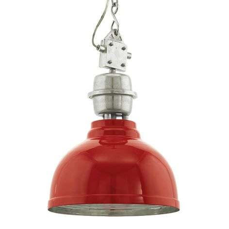 Teollisuustyylin Grantham-riippuvalaisin, punainen