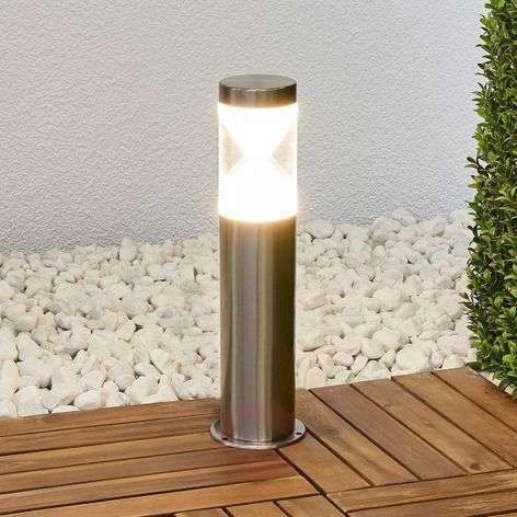 Tiimalasia muistuttava Fabrizio-LED-pollarilamppu-9988153-31