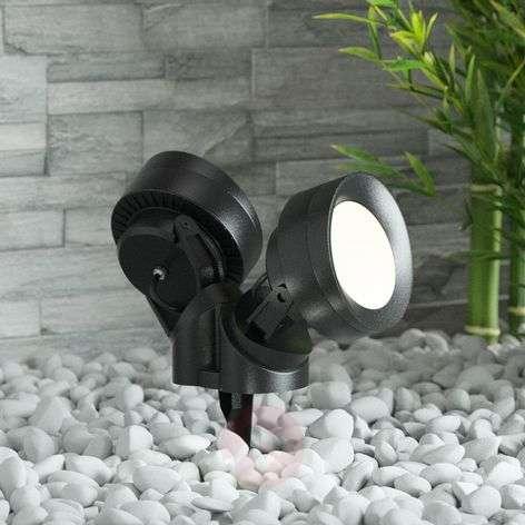 Tommy-EL maapiikkikohdevalo LED musta 10W 2-lamp.