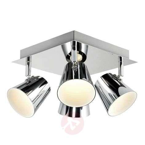 Torsion – nelikulmainen LED-kattovalaisin, 4-os.