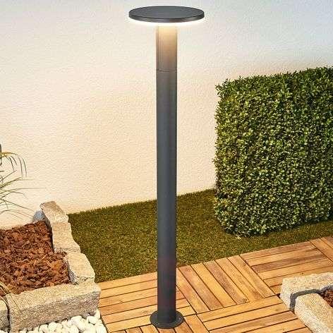 Tummanharmaa LED-pollarilamppu Olesia