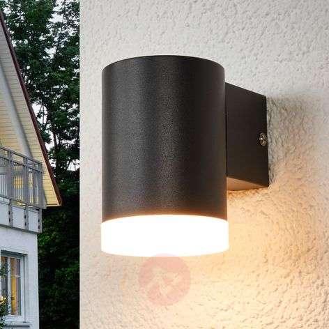 Tummanharmaa LED-seinävalaisin Morena ulkokäyttöön