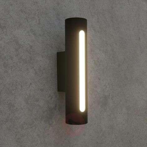 Tummanharmaa LED-ulkoseinävalaisin Tomas