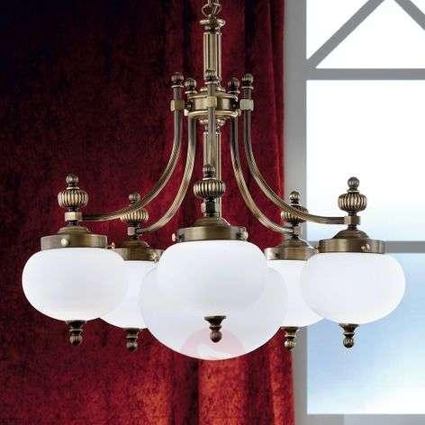 Tyylikäs 6-lamppuinen riippuvalaisin DELIA, vanham