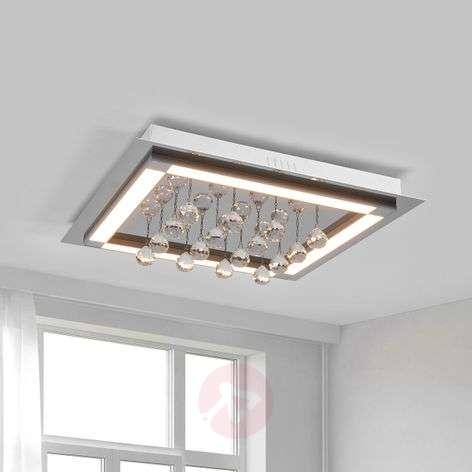 Tyylikäs LED-kattovalaisin Leggero kristalliriip.