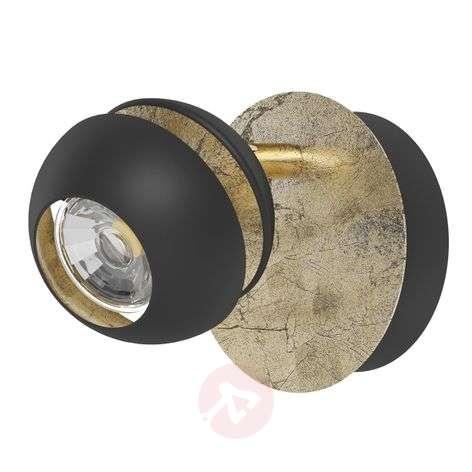 Tyylikäs LED-seinävalaisin Nocito, musta-kulta