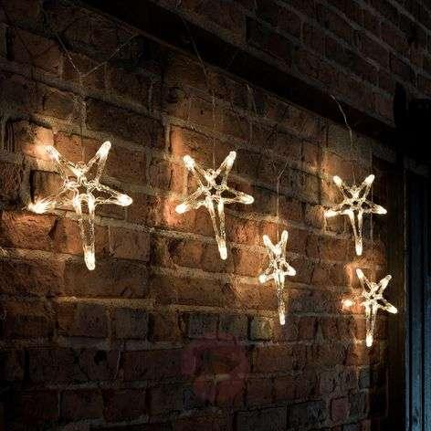 Tyylikäs LED-valoketju 5-sakaraiset tähdet