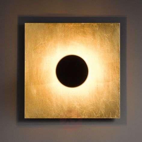 Tyylikäs seinävalaisin Nest musta-kultaisena