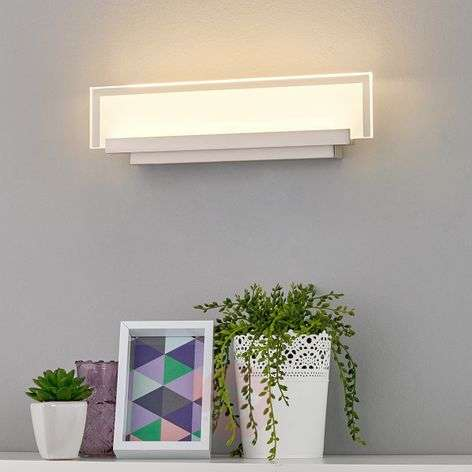 Tyylikäs Teja-seinävalaisin LED lasipaneelilla