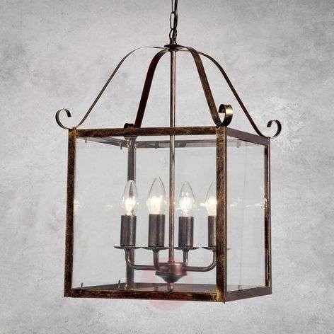 Upea FALOTTA-riippuvalaisin, kulmikas, 4-lamp.