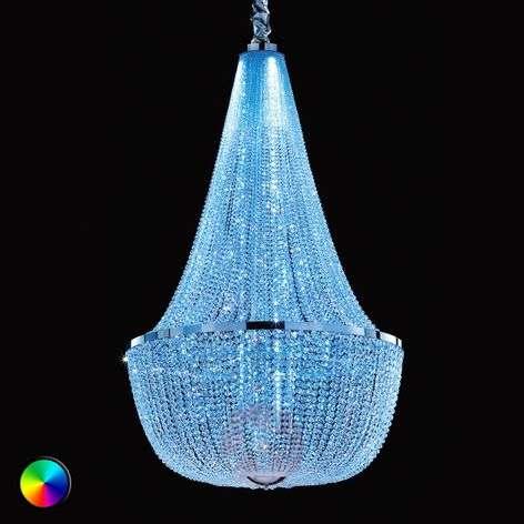 Upea kattokruunu Ilaria, RGB LED