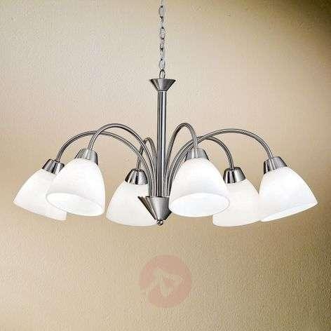 Upea riippuvalaisin KINGA 6-lamppuinen - nikkeli