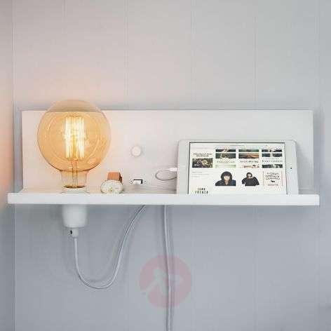 USB-laturilla - valkoinen seinävalaisin Multi