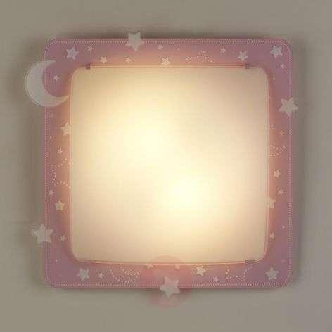 Vaaleanpunainen 2-in-1-kattovalaisin Stars