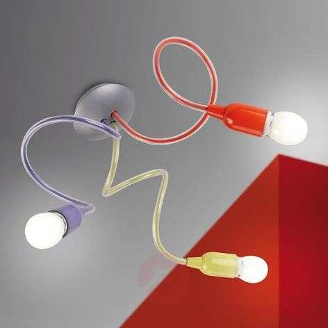 Värikäs, 3-lamppuinen BINGO-kattovalaisin