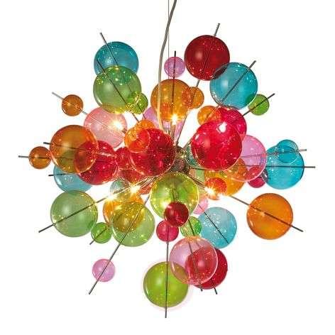 Värikäs lasinen riippuvalaisin Aurinia