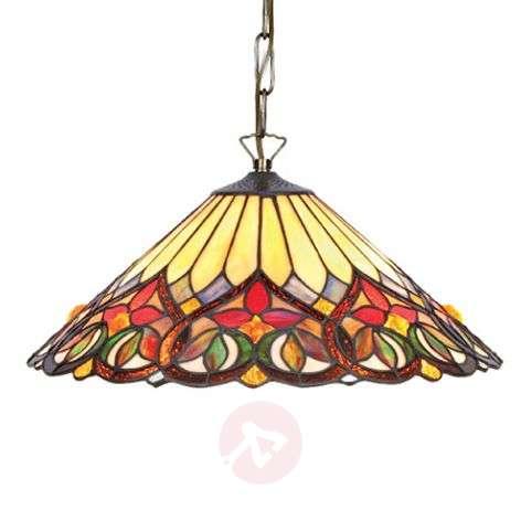 Värikäs Tiffany-tyylinen Anni-riippuvalaisin lasia-1032325-31