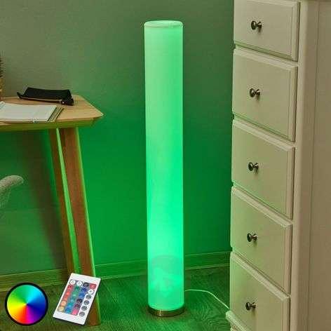 Väriloisteinen LED-lattiavalaisin Mirella, RGB