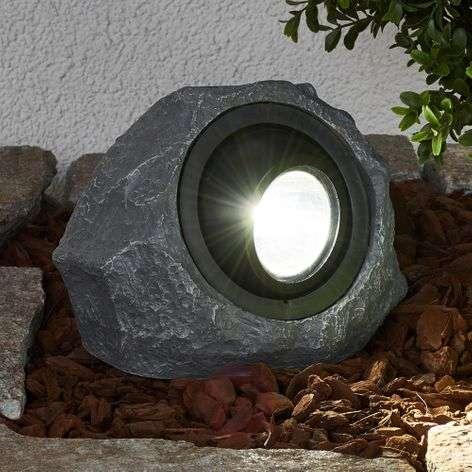 Valaiseva aurinkokäyttöinen kivi Lior LEDillä