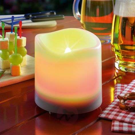 Valkoinen Candle Light -LED-kynttilä aurinkokenno