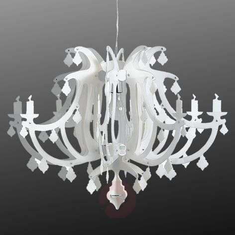 Valkoinen design-riippuvalaisin Ginetta