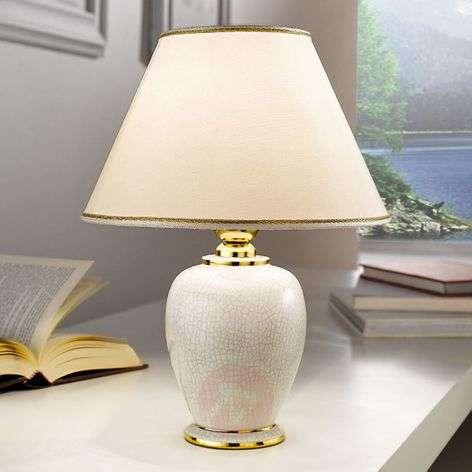 Valkoinen GIARDINO CRACLEE -pöytävalaisin 30 cm