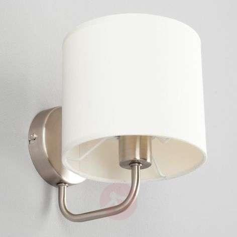 Valkoinen kangasseinävalaisin Fenria E14-LEDillä