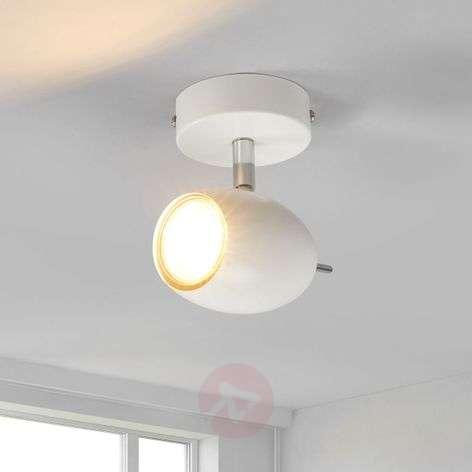 Valkoinen kohdevalo Philippa GU10-LEDillä