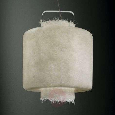 Valkoinen lasikuitu-LED-riippuvalaisin Kimono