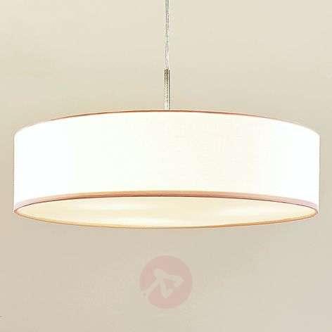 Valkoinen LED-riippuvalaisin Sebatin, kangasta