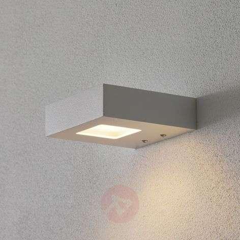 Valkoinen LED-seinävalonheitin Cubus