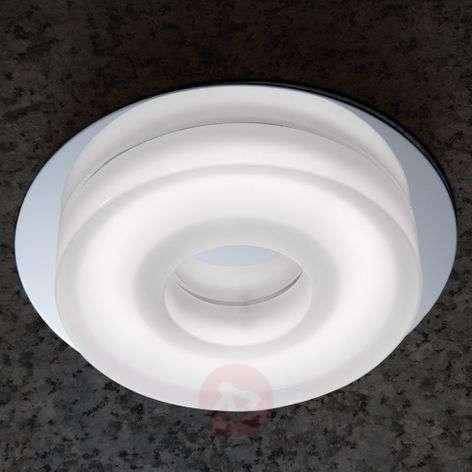 Valkoinen LED-uppokohdevalaisin Amir, pyöreä