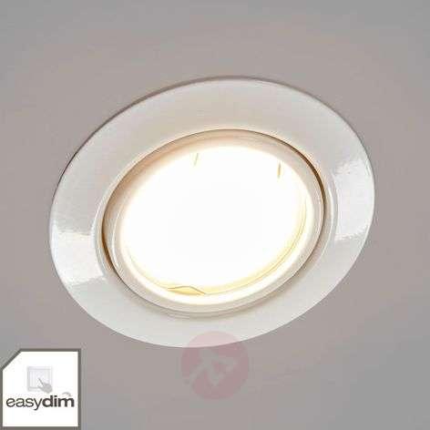 Valkoinen LED-uppovalaisin Juna, 3 kpl Easydim