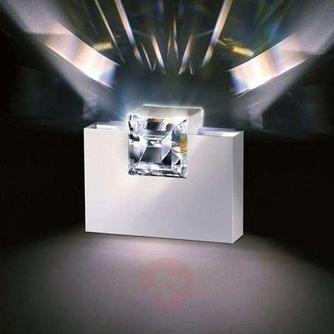 Valkoinen Madison-seinälamppu kristallilla