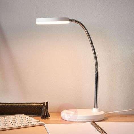 Valkoinen Milow-työpöytävalaisin LED