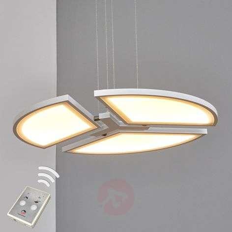Valkoinen, pyöreä LED-riippuvalaisin Aurela