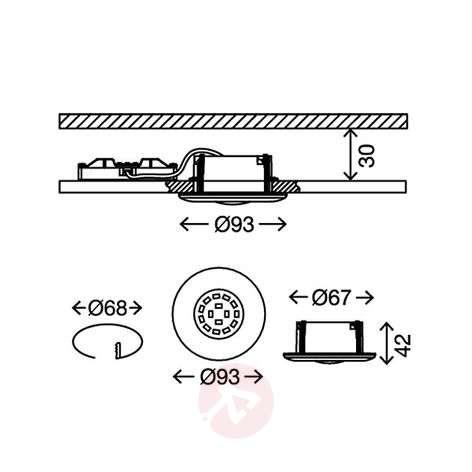 Valkoinen Shower-LED-uppokohdevalaisin, IP65-1510316-34