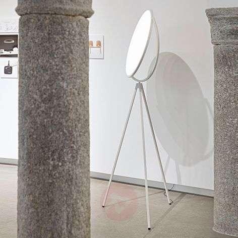 Valkoinen Superloon design-lattiavalaisin LEDillä
